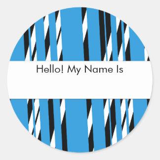 Luz à moda - folha descascada azul da etiqueta
