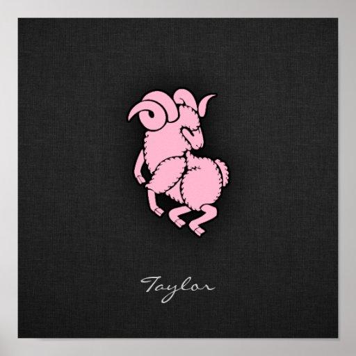 Luz - Aries cor-de-rosa Posters