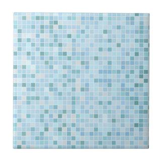 Luz - azulejo cerâmico pequeno ou grande azul da