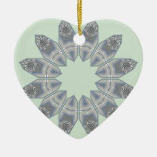 Luz - azulejo verde Drummergirl77 Art.png do Ornamento De Cerâmica Coração