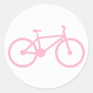 Luz - bicicleta cor-de-rosa adesivo