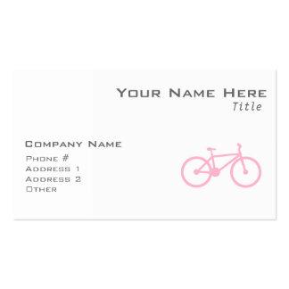 Luz - bicicleta cor-de-rosa cartao de visita