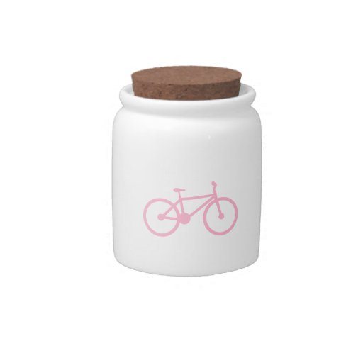 Luz - bicicleta cor-de-rosa pote de doce
