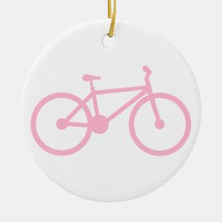 Luz - bicicleta cor-de-rosa ornamentos para arvore de natal