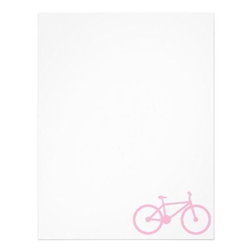 Luz - bicicleta cor-de-rosa papéis de carta personalizados