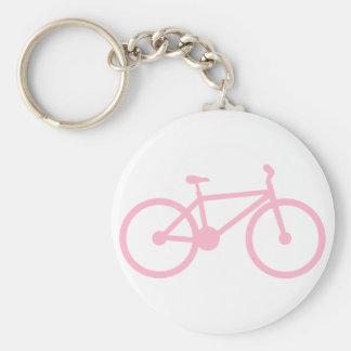 Luz - bicicleta cor-de-rosa chaveiros