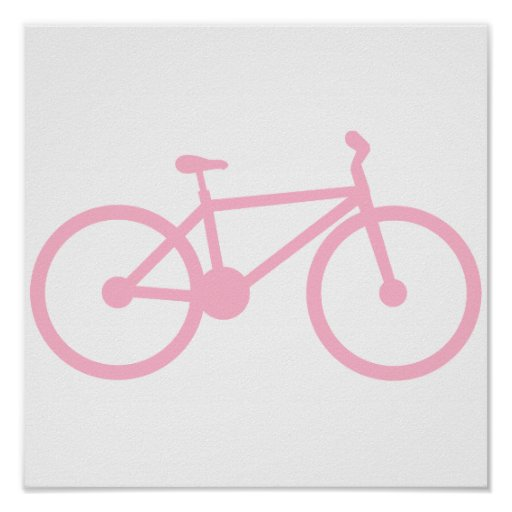 Luz - bicicleta cor-de-rosa impressão