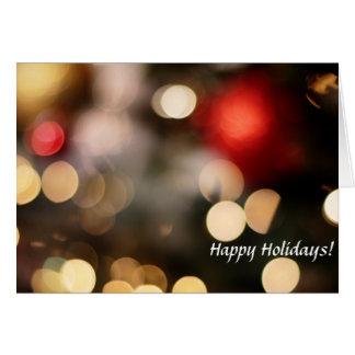 Luz: Boas festas Cartão Comemorativo