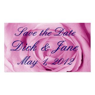 Luz brilhante - economias do rosa a data cartão de visita