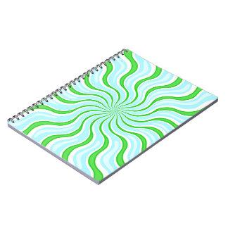 Luz - caderno psicadélico da listra do azul & do
