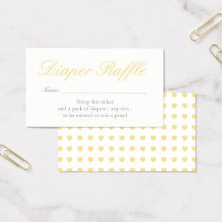 Luz - cartão amarelo do Raffle da fralda dos