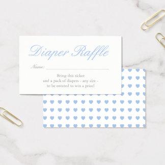 Luz - cartão azul do Raffle da fralda dos corações