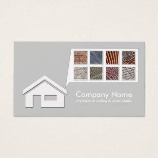 Luz - cartão cinzento do telhado & das construções