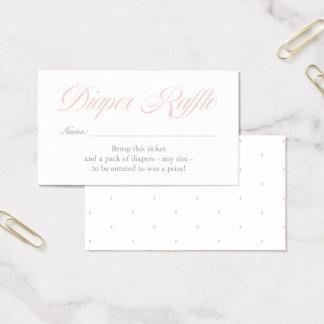 Luz - cartão cor-de-rosa do Raffle da fralda dos