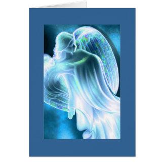 Luz - cartão do anjo azul