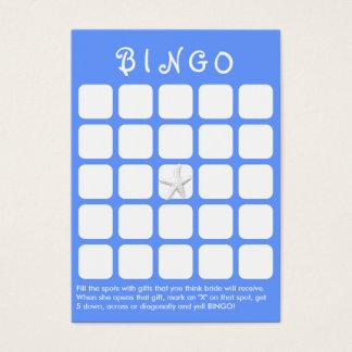 Luz - cartão do Bingo do chá de panela dos peixes