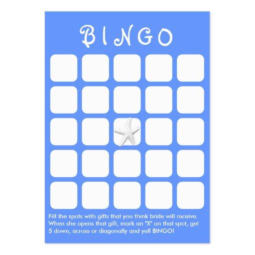 Luz - cartão do Bingo do chá de panela dos peixes  Modelos Cartões De Visita
