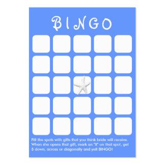 Luz - cartão do Bingo do chá de panela dos peixes Cartão De Visita Grande