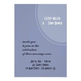 Luz - casamento moderno azul convite 12.7 x 17.78cm