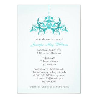 Luz - chás de panela azuis convite 12.7 x 17.78cm