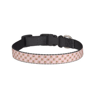 Luz - coleira de cão floral cor-de-rosa