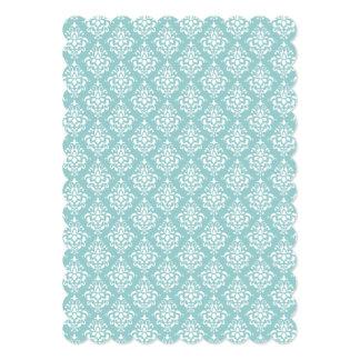 Luz - cor damasco branca azul 1 do vintage convite personalizados
