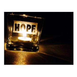 Luz da esperança cartão postal