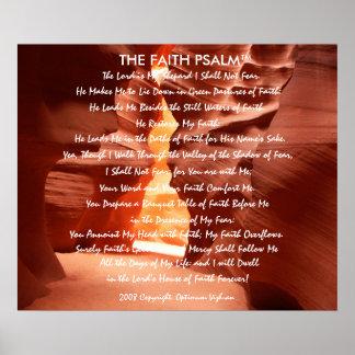 Luz da garganta do salmo da fé de WarriorsCreed Posters