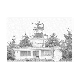 Luz da ilha da guarda de Alaska Impressão Em Tela