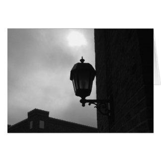 Luz da lâmpada, cartão