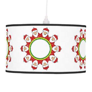 Luz da lâmpada de pendente de Papai Noel do Natal