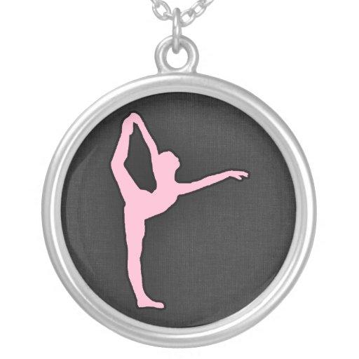 Luz - dançarino de balé cor-de-rosa colares personalizados
