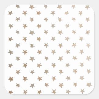 luz das estrelas adesivo quadrado