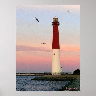 Luz de Barnegat, ilha de Long Beach, poster de NJ
