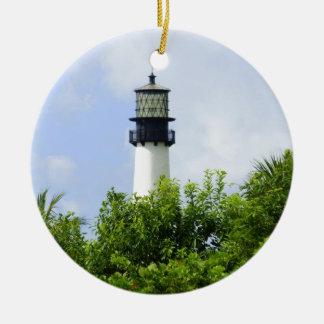 Luz de Florida do cabo Ornamento De Cerâmica Redondo