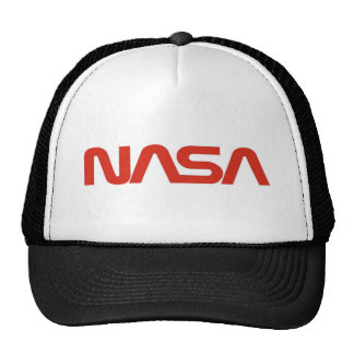 LUZ de logotipo vermelha do cobra da NASA Boné