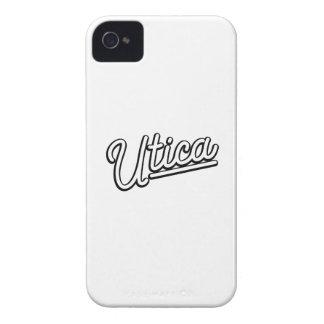 Luz de néon de Utica no branco Capinhas iPhone 4