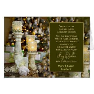 Luz de vela do Natal - cartão - nome