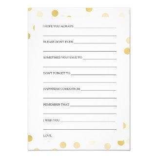 Luz do brilho da folha de ouro dos cartões do convite 12.7 x 17.78cm
