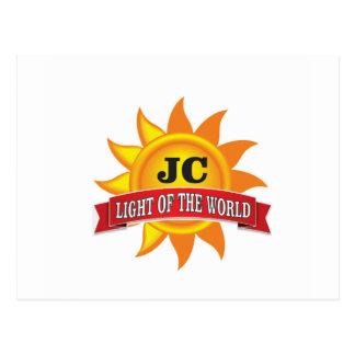 luz do jc do mundo cartão postal