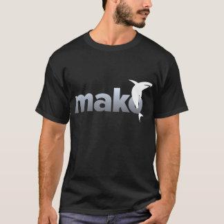 Luz do Mako na camisa escura do logotipo T
