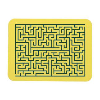 Luz do n° 17 do labirinto do labirinto - azul foto com ímã retangular