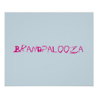 Luz do poster de Brandpalooza - azul