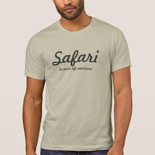 Luz do safari - cinza t-shirts