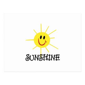 Luz do sol cartão postal