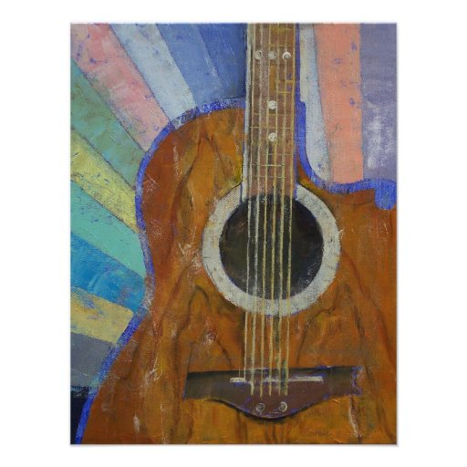 Luz do sol da guitarra convite personalizados