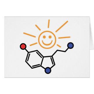 Luz do sol da serotonina - a felicidade é química cartão comemorativo