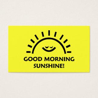 Luz do sol do bom dia cartão de visitas