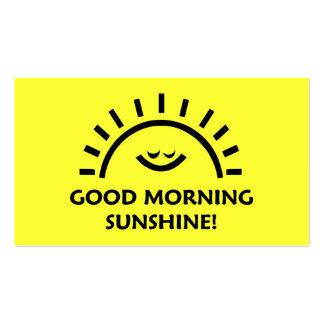 Luz do sol do bom dia cartões de visita
