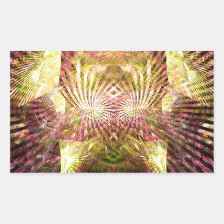 Luz do sol do carnaval adesivo em forma retangular